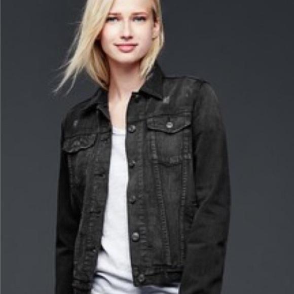 elegant and sturdy package choose newest best supplier Gap black denim jacket